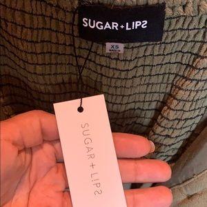 Sugarlips Pants & Jumpsuits - Green Linen Jumpsuit